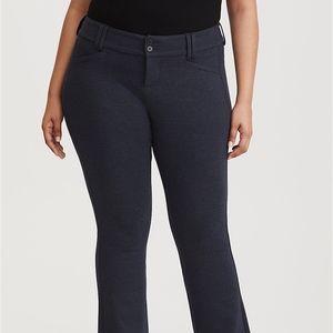 Torrid Plus Sized Navy Ponte Trouser Pants